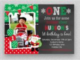Santa Birthday Party Invitations Christmas Birthday Invitation Christmas 1st Birthday Santa