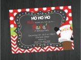 Santa Birthday Party Invitations Christmas Birthday Invitation Santa Birthday by