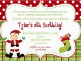 Santa Birthday Party Invitations Items Similar to Christmas Birthday Party Invitation