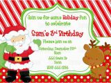 Santa Birthday Party Invitations Printable Santa Birthday Party Invitation Plus Free Blank