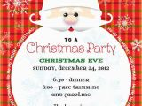 Santa Birthday Party Invitations Santa Claus Christmas Party Invitation