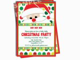 Santa Birthday Party Invitations Santa Claus Invitation Santa Birthday by Storybooklanecrafts