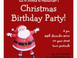 Santa Birthday Party Invitations Santa Claus Red Christmas Birthday Invitation 5 25 Quot Square