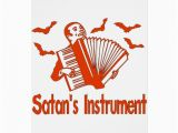 Satanic Birthday Cards Satan 39 S Instrument Greeting Card Zazzle