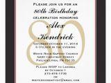 Save the Date 80th Birthday Invitations 80th Birthday Party Square Invitation