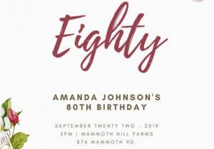 Save The Date 80th Birthday Invitations Customize 985 Invitation Templates Online