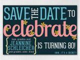 Save the Date Birthday Cards Free Custom Birthday Save the Date 4×6 Downloadable Flowery Save