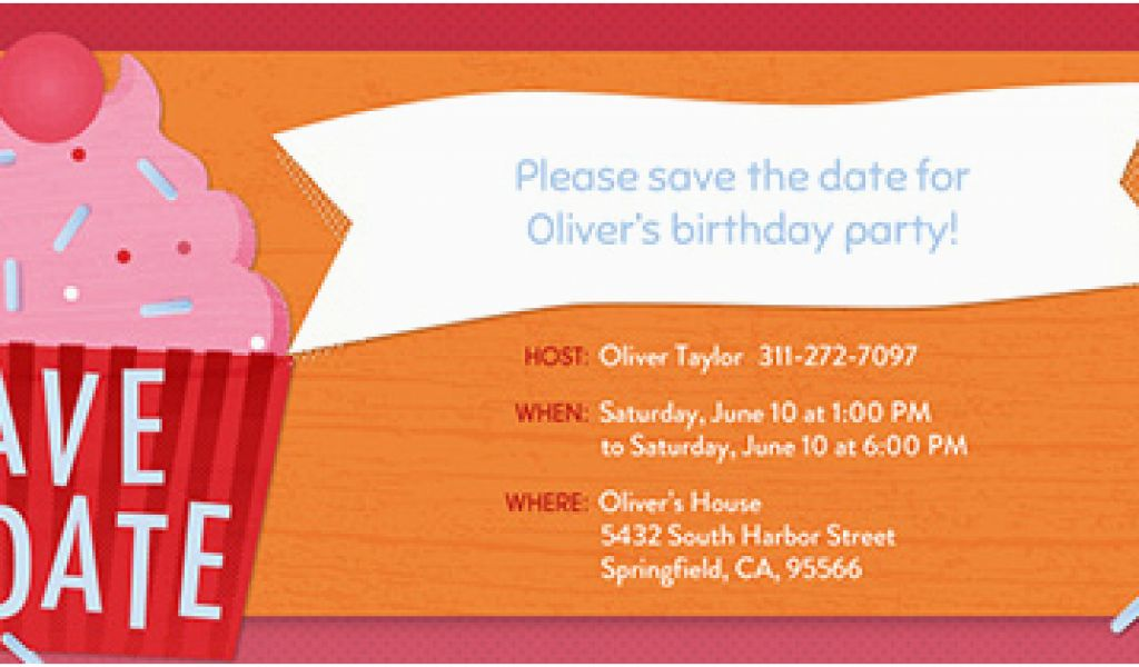 Save The Date Birthday Invite Invitations Free Ecards And Party
