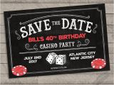 Save the Date Cards for Birthday Casino Birthday Party Save the Date Cards Casino Birthday