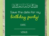 Save the Date Cards for Birthday Save the Date Templates Free