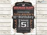 Save the Date Cards for Surprise Birthday Party Birthday Party Save the Date Invitation Card by Delartdesigns