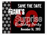 Save the Date Cards for Surprise Birthday Party Modern Save the Date Surprise 60th Party W1942 Postcard