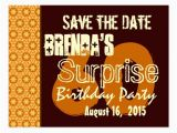 Save the Date Cards for Surprise Birthday Party Save the Date 60th Surprise Birthday Gold Stars Postcards