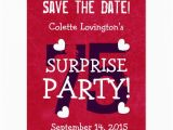 Save the Date Cards for Surprise Birthday Party Save the Date 75th Surprise Birthday S75b Red Postcard