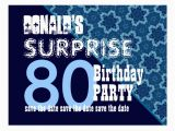 Save the Date Cards for Surprise Birthday Party Save the Date Surprise Party Postcards Postcard Template