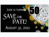 Save the Date Invitation Wording for Birthday Party Disco Ball 50th Save the Date Magnets Paperstyle Joels