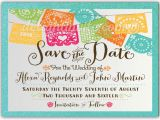 Save the Date Invitation Wording for Birthday Party Mexican Fiesta Paper Flags Save the Date Invitations Di