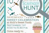 Scavenger Hunt Birthday Party Invitations Birthday Scavenger Hunt Invitation