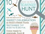 Scavenger Hunt Birthday Party Invitations Birthday Scavenger Hunt Invitation