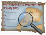Scavenger Hunt Birthday Party Invitations Kids Birthday Party Invitations Free Printable