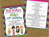 Scavenger Hunt Birthday Party Invitations Mall Scavenger Hunt Birthday Party Invitation Invite Rainbow