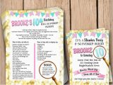 Scavenger Hunt Birthday Party Invitations Mall Scavenger Hunt Slumber Party Birthday Package
