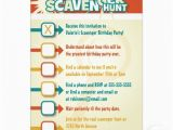 Scavenger Hunt Birthday Party Invitations Scavenger Hunt Birthday Invitations