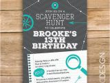 Scavenger Hunt Birthday Party Invitations Scavenger Hunt Birthday Party Invite Scavenger Invitation