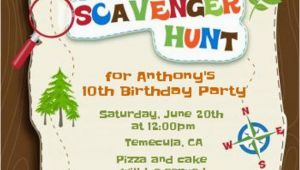 Scavenger Hunt Birthday Party Invitations Scavenger Hunt Printable Birthday Party by Candlesandfavors