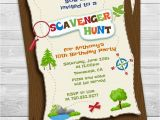 Scavenger Hunt Birthday Party Invitations Scavenger Hunt Printable Birthday Party Invitations
