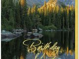 Scenic Birthday Cards Mountain Reflection Birthday Card Scenic Birthday Cards