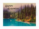 Scenic Birthday Cards Scenic northern Landscape Rustic Happy Birthday Card