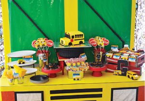School Bus Birthday Party Decorations Creative Playful Wheels On the Bus Birthday Party