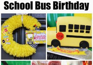 School Bus Birthday Party Decorations School Bus Party On Pinterest
