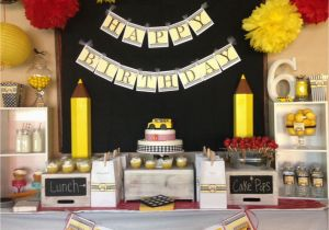 School Bus Birthday Party Decorations School Bus themed Party Http Ohmygluestick Com