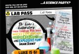 Science themed Birthday Party Invitations Science themed Birthday Invitation Mad Scientist Party