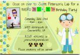 Scientist Birthday Card Free Printable Mad Science Birthday Party Invitations