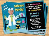 Scientist Birthday Card Mad Science Birthday Party Invitations Oxsvitation Com