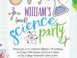 Scientist Birthday Card Mad Science Party Invitation From 0 80 Each