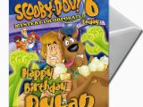 Scooby Doo Birthday Cards Scooby Doo Personalised Birthday Card Large A5