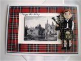 Scottish Birthday Cards Online Handmade Scottish Piper Birthday Card