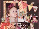 Scrapbook Ideas for Birthday Girl Happy 1st Birthday Scrapjazz Com Birthday Pinterest