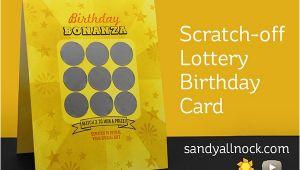 Scratch Off Birthday Card Scratch Off Lottery Birthday Card Sandy Allnock