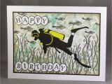 Scuba Diving Birthday Cards Lynne 39 S Crafty Little Blog Scuba Diving Card