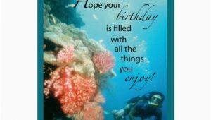 Scuba Diving Birthday Cards Scuba Diving Birthday Card Zazzle Com