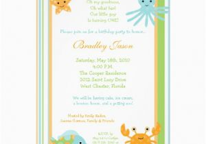 Sea Life Birthday Party Invitations 5×7 Ocean Sea Life Octopus Birthday Invitation 5 Quot X 7