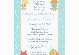 Sea Life Birthday Party Invitations 5×7 Sea Life Ocean Fish Birthday Party Invitation Zazzle