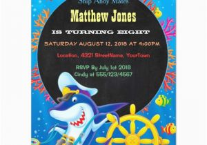 Sea Life Birthday Party Invitations Colorful Boys Sea Life Birthday Chalkboard Invites