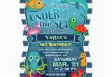Sea Life Birthday Party Invitations Colorful Kid 39 S Sea Life Birthday Party Invitation Zazzle