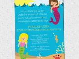 Sea Life Birthday Party Invitations Items Similar to Mermaid Birthday Party Invitation